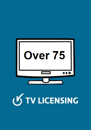 Over 75 TV License image