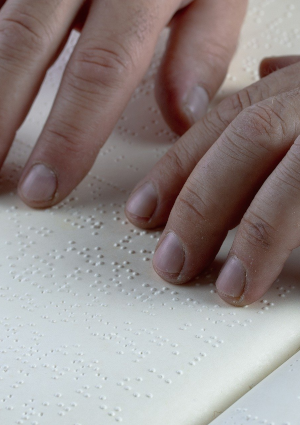 Image of somebody using braille